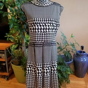 Tiana B houndstooth fit and flare a line dress 14